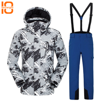 TENNEIGHT Ski Suit Men Windproof Waterproof Thermal Outdoor Skiing Snowboarding Jacket And Pants sets Climbing Skating Clothes