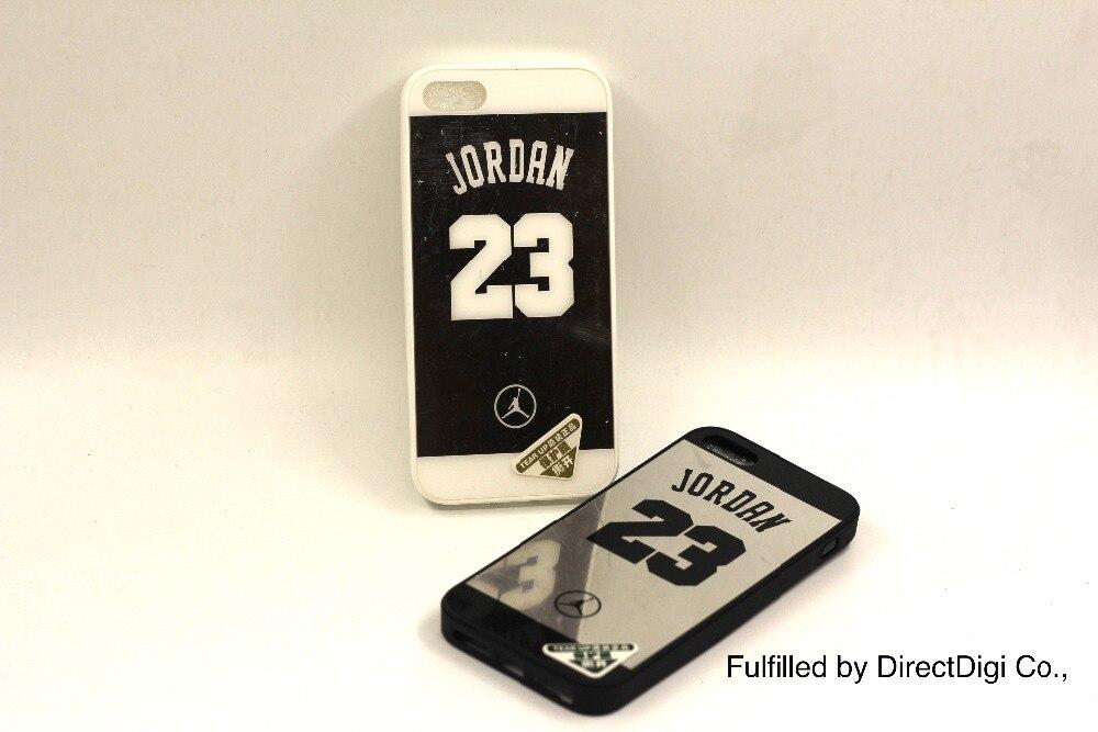 2016 moda Michael Jordan 23 silicona teléfono casos para el iPhone 6 s 6 más i6