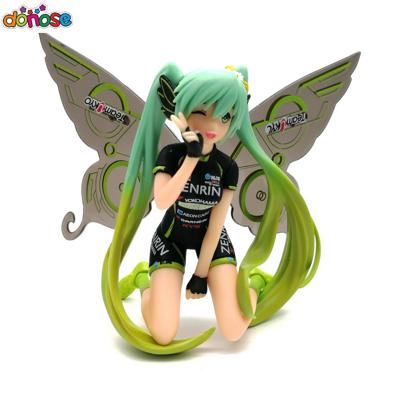 Anime Hatsune Miku Action Figure Racing Miku 2017 Team UKYO Butterfly CHEERING ver. Collection figure Model Kids Toy