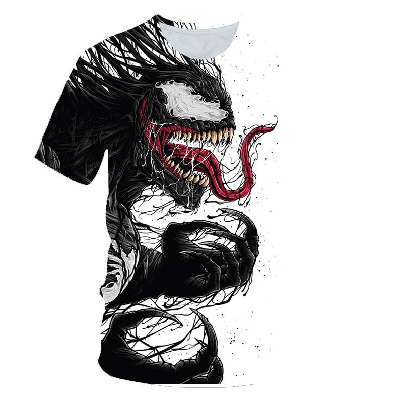 Brand Fashion cool   t     shirt   Men/Women Marvel Movie Venom 3D Printed   T  -  shirts   Short Sleeve Harajuku Style Tshirt Streetwear Tops
