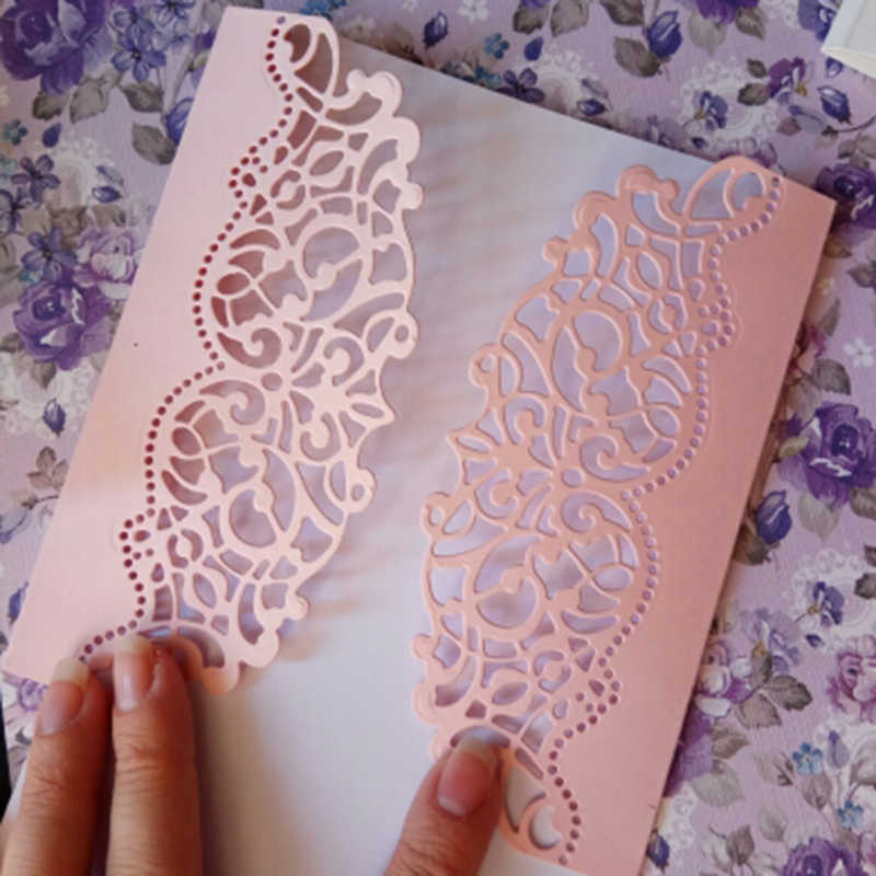 Hemere Making Scrapbook Greeting Card edge Lace Hollow Border Metal Cutting Dies Stencil Frame Embossing Template DIY 148*52MM