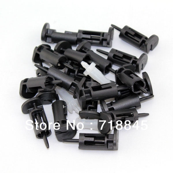 Baru 100 PCS 100 pair banyak plastik PC komputer CPU Intel 775 1156 Fan Screw Fixer