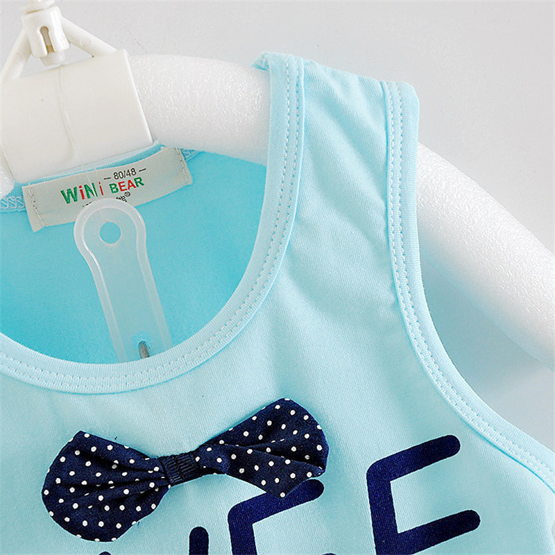 toddler children clothing sets boys tracksuits baby girl clothes summer casual suits for children sleeveless vest+Denim shorts