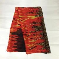 5 Yards Lot 140CM Width Silk Fabric Dandelion Printed Silk Chiffon Fabric Nature Silk Print Fabric