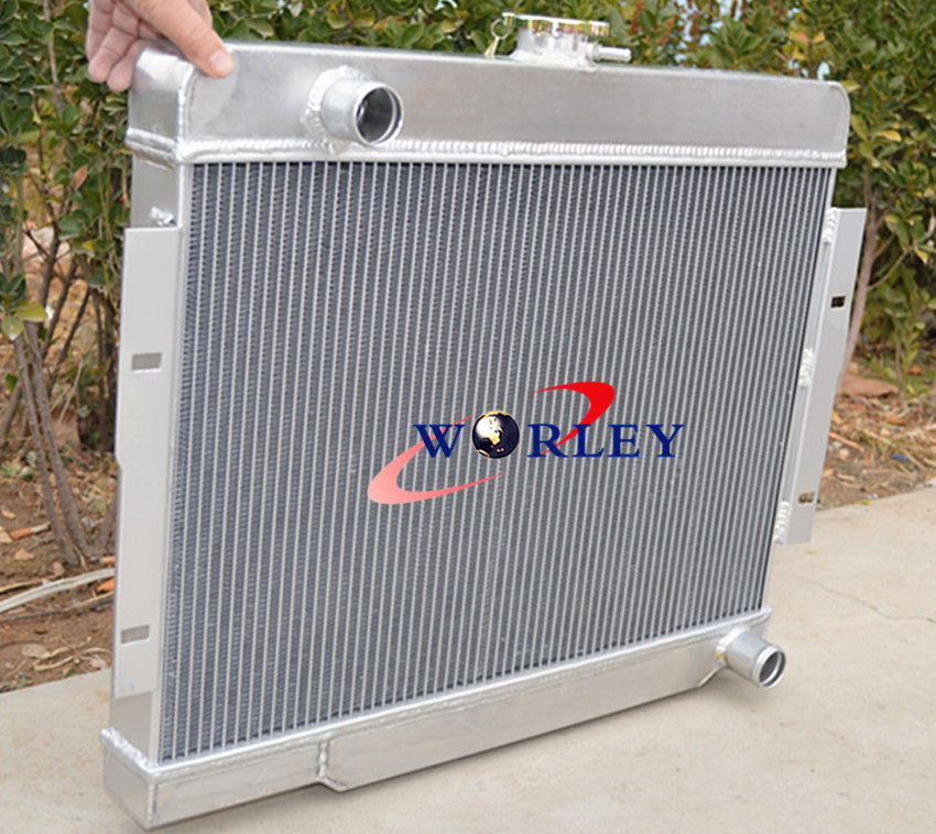 US $162 0  FOR 72 86 Jeep CJ CJ5 CJ7 V8 Chevy Engine Conversion Aluminum  Radiator + 2* FAN-in Radiators & Parts from Automobiles & Motorcycles on