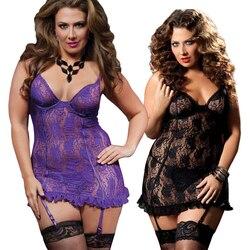 S-6XL Новое европейское и женское белье большого размера сексуальные кружевные подвязки Fantasias сексуальные эротические женские чулки 1