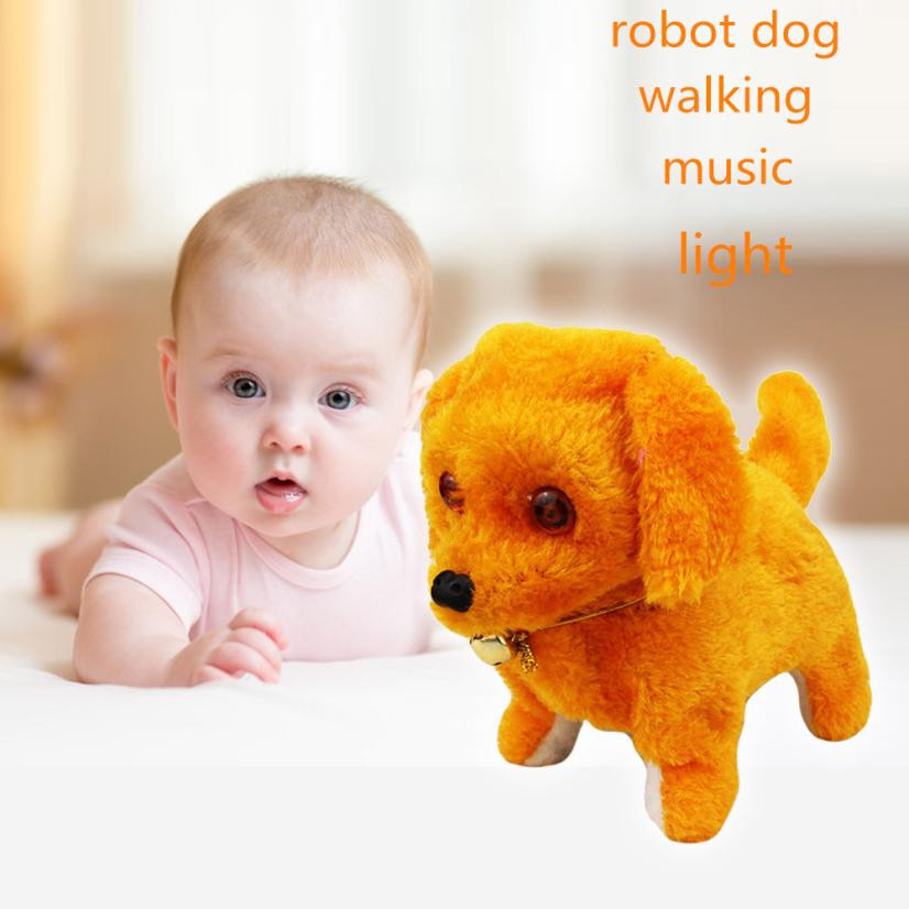 New Robotic Cute Electronic Walking Pet Dog Puppy Kids Toy With Music Light  Electronic Dog Toy for babies child best gift #JYJY