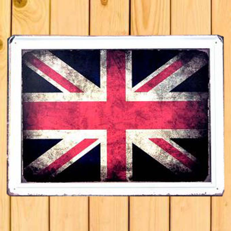 Lager Union Jack Flag Vintage Cars Metal Signs Decorative Tin Plates Wall Decor Plaque 30x40cm -in Plaques \u0026 Signs from Home \u0026 Garden on Aliexpress.com ... & Lager Union Jack Flag Vintage Cars Metal Signs Decorative Tin Plates ...
