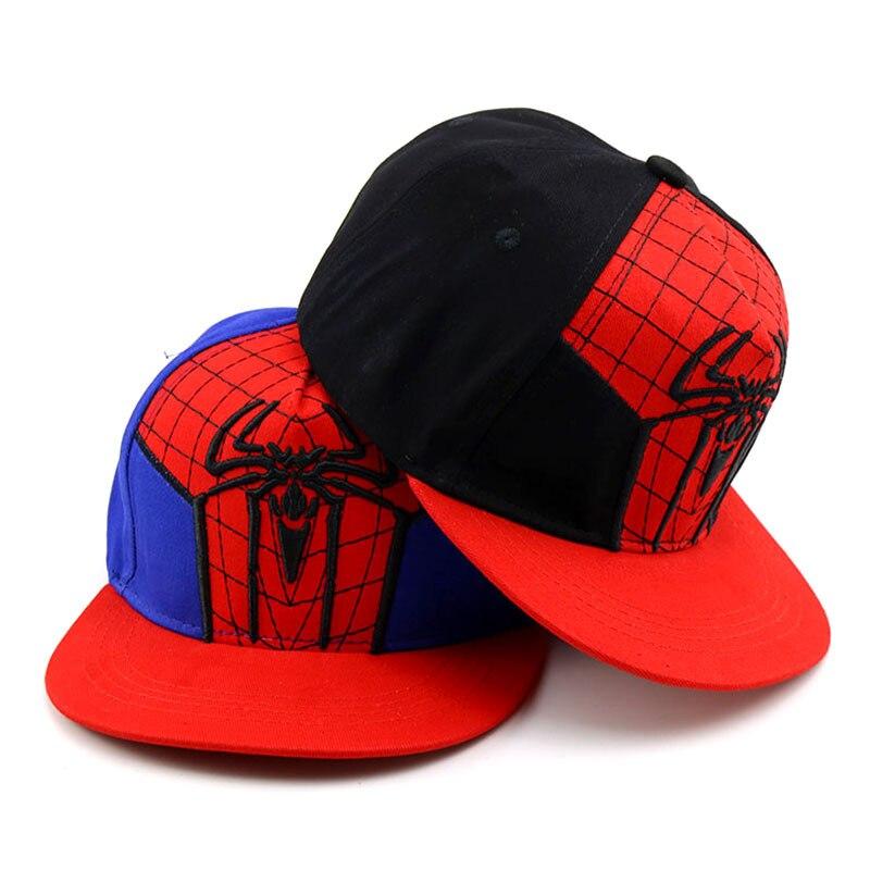 2019 Summer Baby boy girl hat Cartoon spiderman hip hop hat new girl outdoor cosplay caps spring child hat