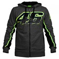 2017 Valentino Rossi VR46 Hoodies Sweatshirts Moto GP Hoodies Casual Winter Sports Jackets Dark Gray Zipper Sweater