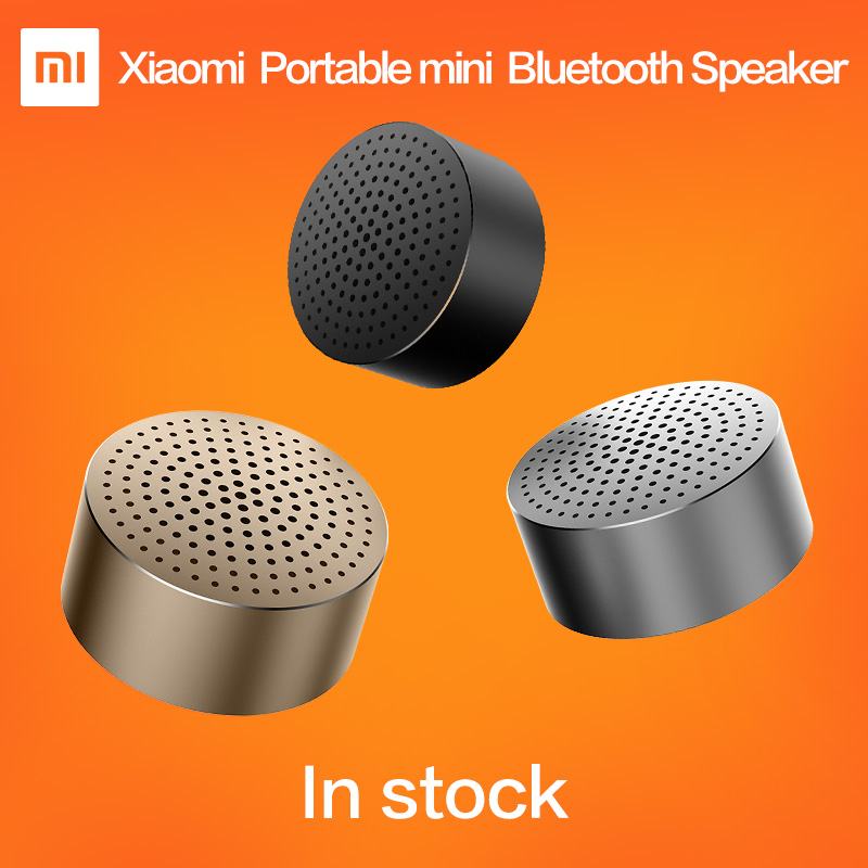 Original Xiaomi Mi Portable Bluetooth Speaker(Little Audio) Bluetooth 4.0 Wireless Mini Metal Perfect Balance 4h P Mic