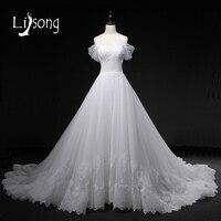 Romantic Off Shoulder White Wedding Dress Long Floral A Line Bridal Formal Gowns Appliques Wedding Dresses