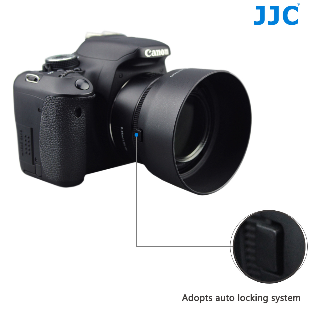 JJC LH-68 Bayonet Camera Lens Hood for Canon EF 50mm f/1.8 STM Lens replaces ES-68 image