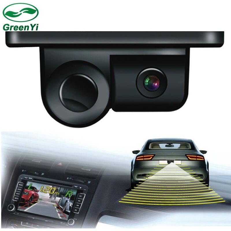 imágenes para 2 en 1 LCD Indicador de la Exhibición de Sonido de Alarma Del Coche para Estacionarse en Reversa Sensor de la cámara con CCD de la Visión Nocturna cámara de Vista Trasera Automática