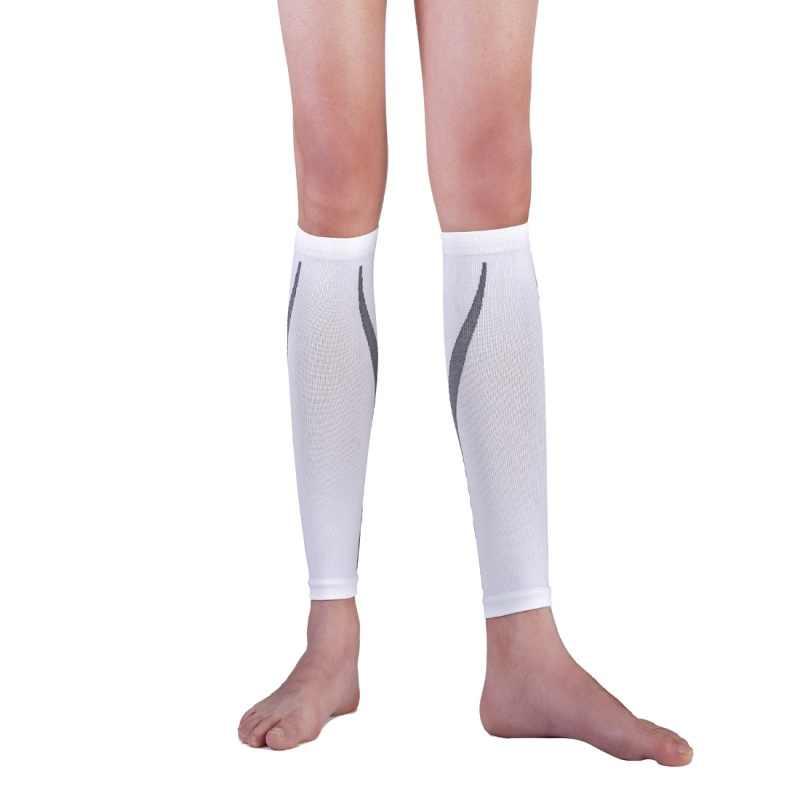 Унисекс Для женщин мужские Компрессионные носки человек нога подтяжки  окончил ботильоны Длина ноги Поддержка носок рукава 4f8aa7d8b60