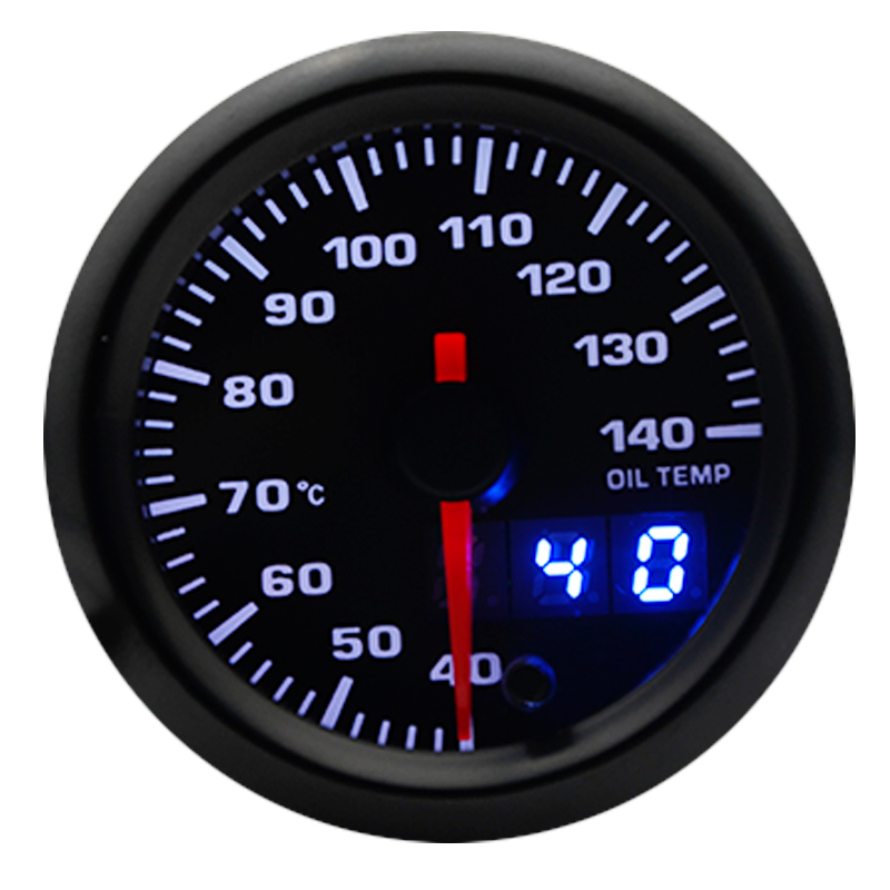 52mm Analog//Digital Dual Display 7 Colors LED Car Water Temp Gauge With Sensor
