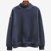 Autumn Winter Warm Thicken Cashmere Pullovers Woman Outerwear Casual Turtleneck Hoodies Sweatshirts Women Long Sleeve Coats