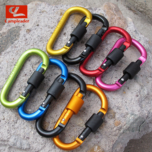 8cm Aluminum Alloy D-Ring Key Chain 4