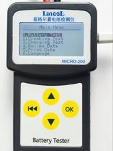 Español ruso Multi Idiomas Automotive 12 V Car Auto Probador de La Batería 100-2000 CCA 30-200Ah Sistema Analizador puede imprimir en PC