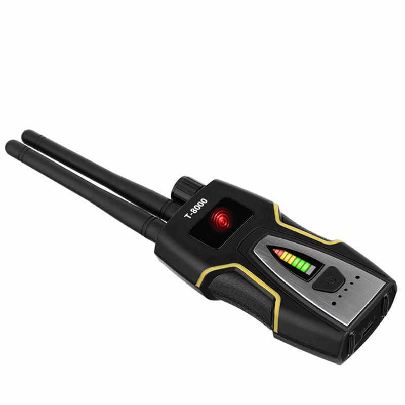 Detector de insetos rf detector de sinal anti-espião câmera escondida gsm dispositivo de escuta gps radar rádio scanner localizador de sinal sem fio (ouro)