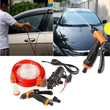 80W 130PSI  Portable High Pre ssure Car Electric Washer Wash Pump 12V цена