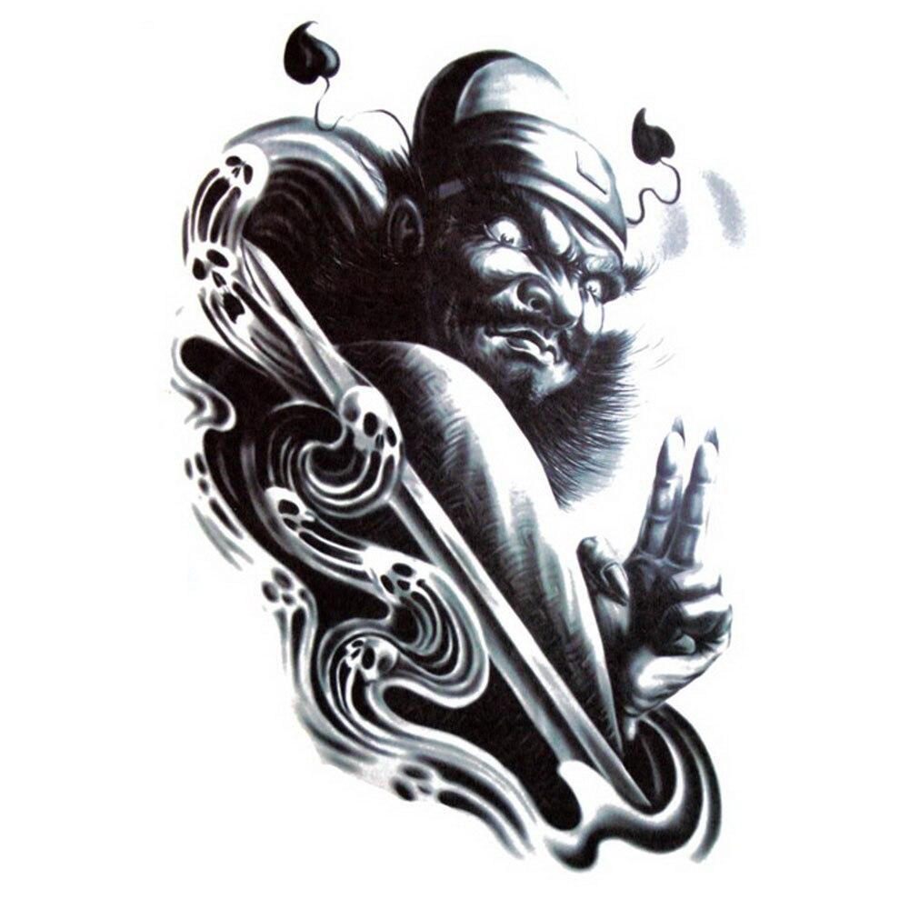 Yeeech Temporary Tattoos Sticker for Men Large Fake Chinese Traditional Designs Arm Leg Shoulder Body Art Waterproof Makeup