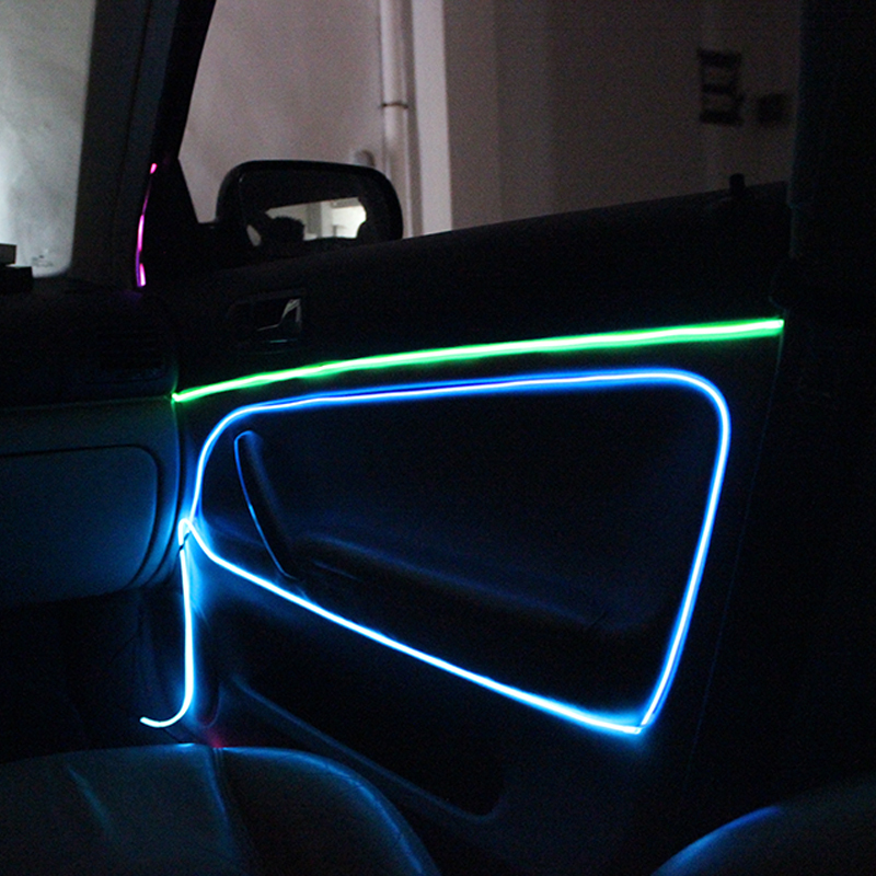 Electroluminescent Flexible EL Wire Internal Cold Neon Light for Car ...