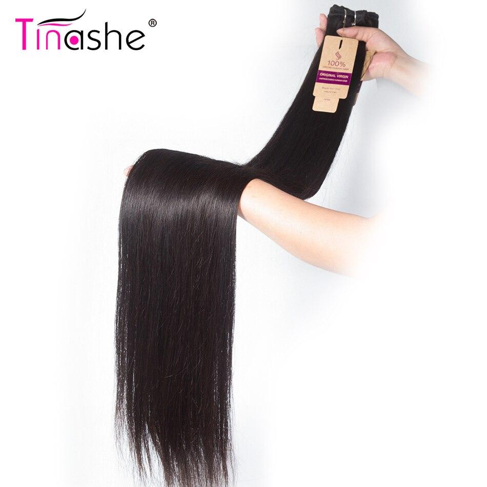 Pelo Tinashe 30 pulgadas 32 34 36 38 pulgadas 40 pulgadas armadura paquetes pelo brasileño recto Remy cabello humano paquete trato de Color Natural
