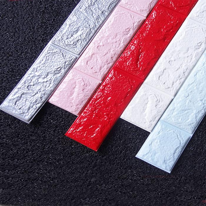 8 см x 70 см линия талии 3D Кирпич Наклейки на стену для Ванная комната Кухня Плитки Туа ...