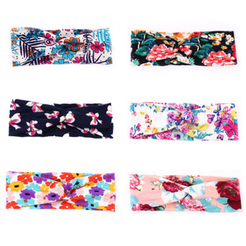 30pcs/lot New Hair Accessories Bohemian Headband Print Cotton Cross  Hairband Europe and America Hot selling Hair Accessories