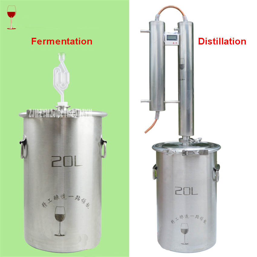 304 Stainless Steel Distiller 20LHousehold brewer Distiller Red Copper Cooling Coil At Home Alcohol Brewing Vodka Whiskey Brandy304 Stainless Steel Distiller 20LHousehold brewer Distiller Red Copper Cooling Coil At Home Alcohol Brewing Vodka Whiskey Brandy