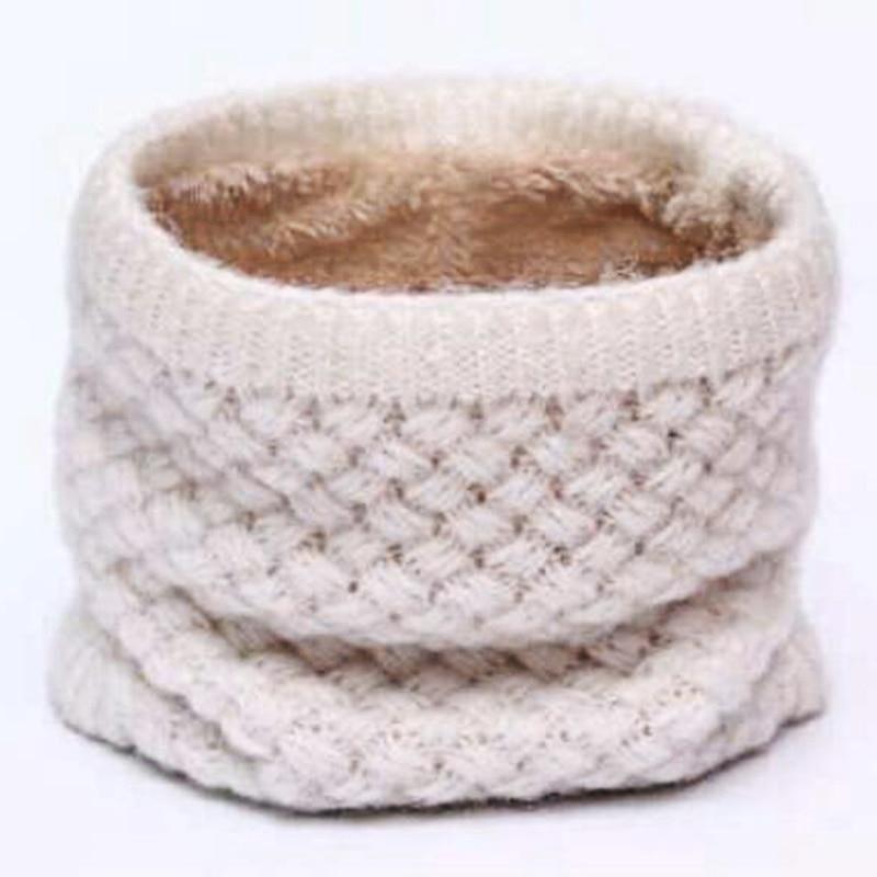 Invierno cuello calentador O anillo bufanda mujeres tejer Infinity ...