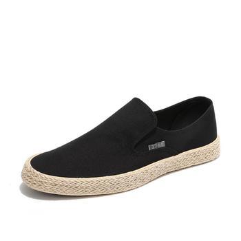 2018 nowa Moda Lato Mężczyźni Canvas Shoes Espadryle Mężczyźni Przypadkowi Buty Slip on Oddychająca Próżniacy Mężczyźni Mieszkania Buty Zapatos Hombre