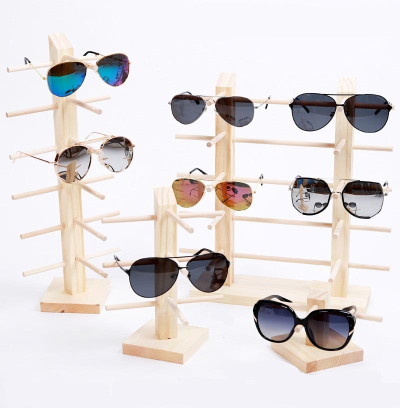 Mulit размер деревянный чехол для солнечных очков полка очки