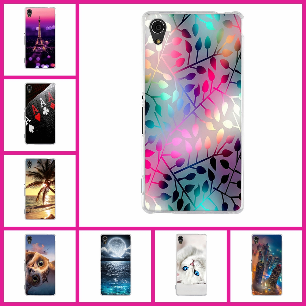 Capa For Sony Xperia M4 Aqua Case 3D Painting Coque For Sony M4 Aqua Cover Soft TPU Silicone Fundas M4 Aqua 5.0'' Phone Cases