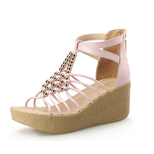 454c666a698 Plataforma Cuñas azul Zapatillas Cielo blanco Sandalia rosado Abierto  Verano 62 25 Tamaño Mujer Zapatos Tacón Negro Bohemia Toe Sandalias aZXUEqw