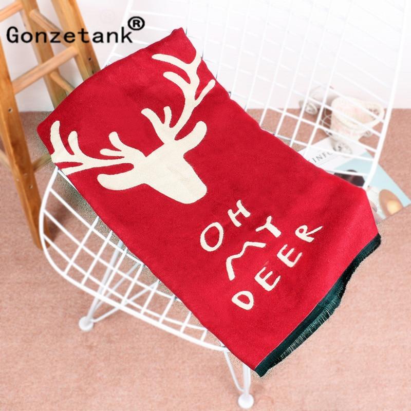 Gonzetank Luxury Brand 2017 New Womens Long Christmas Gift Couple Deer Sweet Warm Multifunctional Fashion Scarf Shawl 185*70cm