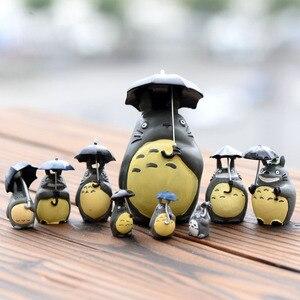 Umbrella Totoro Miniature Fairy Garden Home Houses Decoration Mini Craft Micro Landscaping Decor DIY Accessories(China)