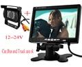 BUS, camión, Cámara de Reserva del coche + 800x480 7 Pulgadas TFT LCD pantalla de Visión Trasera Del Coche Reposacabezas Monitor Para DVD de 2 Canales de Vídeo entrada
