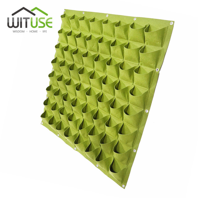 Wituse Free Shipping 4 6 8 36 64 72 Pockets Vertical Garden Flower
