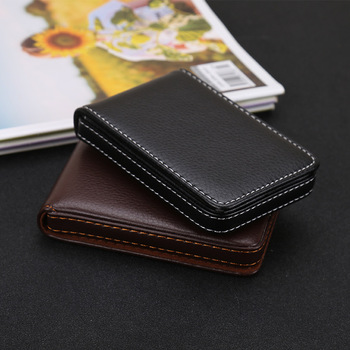 Wholesale New Business Card Holder Men's Id Holders Magnetic Attractive Case Box Mini Wallet Male Credit - discount item  40% OFF Wallets & Holders