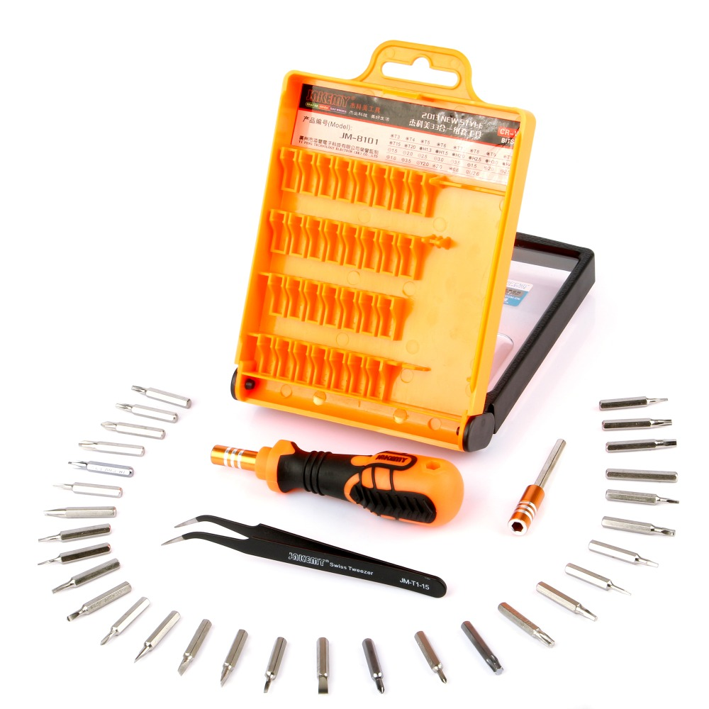 JAKEMY Precision 33 in 1 Repairing Disassembly Screwdriver Bits Kit for Laptop Phone Electrical Appliances Household