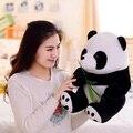 Comercio al por mayor 25 cm 10 inch Nueva Hojas de Bambú de la Panda de Peluche de Juguete Lindo Niños Pequeños Animal Presente Muñeca 1 unids