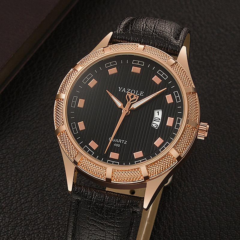 3d8451000f7 ... Marca de Luxo Yazole Grande Dial Moda Casual Assista Homens 30 m à  Prova d  Água da Relógios de Quartzo Relógio Ouro Masculino Pulso ...