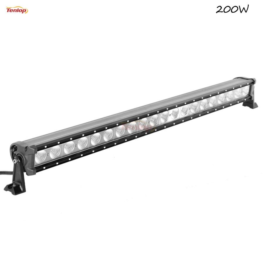 Super Bright 40 Inch 200W Single Row  LED Light Bar For Offroad Wrangler 4*4 SUV ATV 12V 24V hot sale 9 inch 40w single row led light bar for offroad wrangler 4 4 suv atv 12v 24v