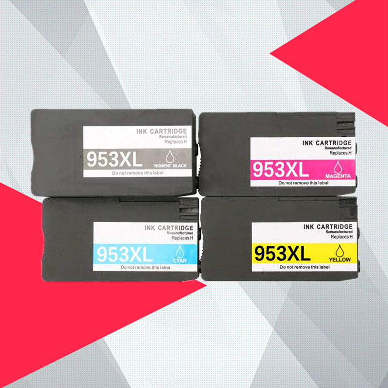 4PK for hp953 Compatible Ink Cartridge 953 953XL for HP pro 7740 8210 8218 8710 8715