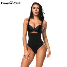 fc1bcac725fca Feelingirl Fajas Cinta Modeladora Women Waist Trainer Body Shaper Lace  Double Layer Bodysuit Sexy Slimming Shapewear