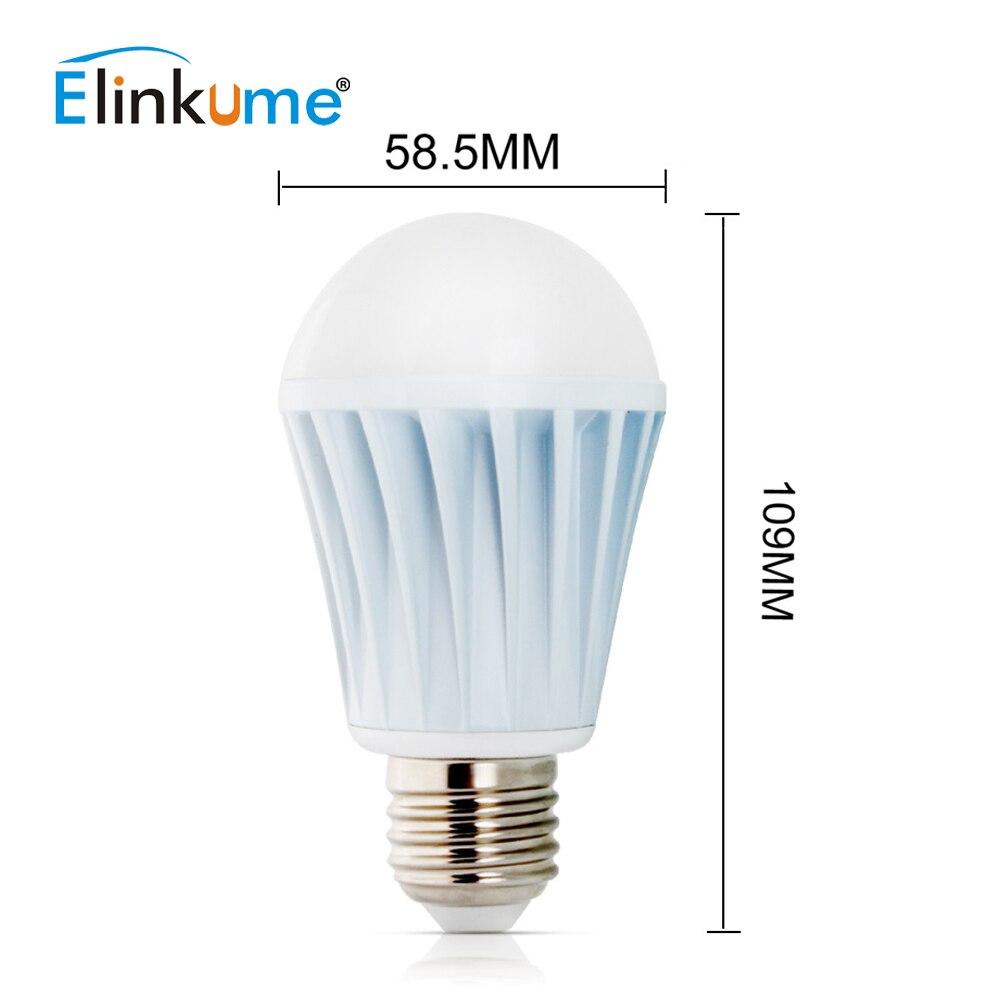 ELINKUME lumière LED ampoule Bluetooth Dimmable E27 7 W coloré Wifi intelligent 1 pièces lampe d'éclairage sept couleurs RGBW ampoule maison lumière - 6