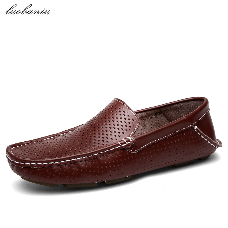 New Summer Shoes Men Loafers Breathable Moccasins Men Shoes Casual Slip On