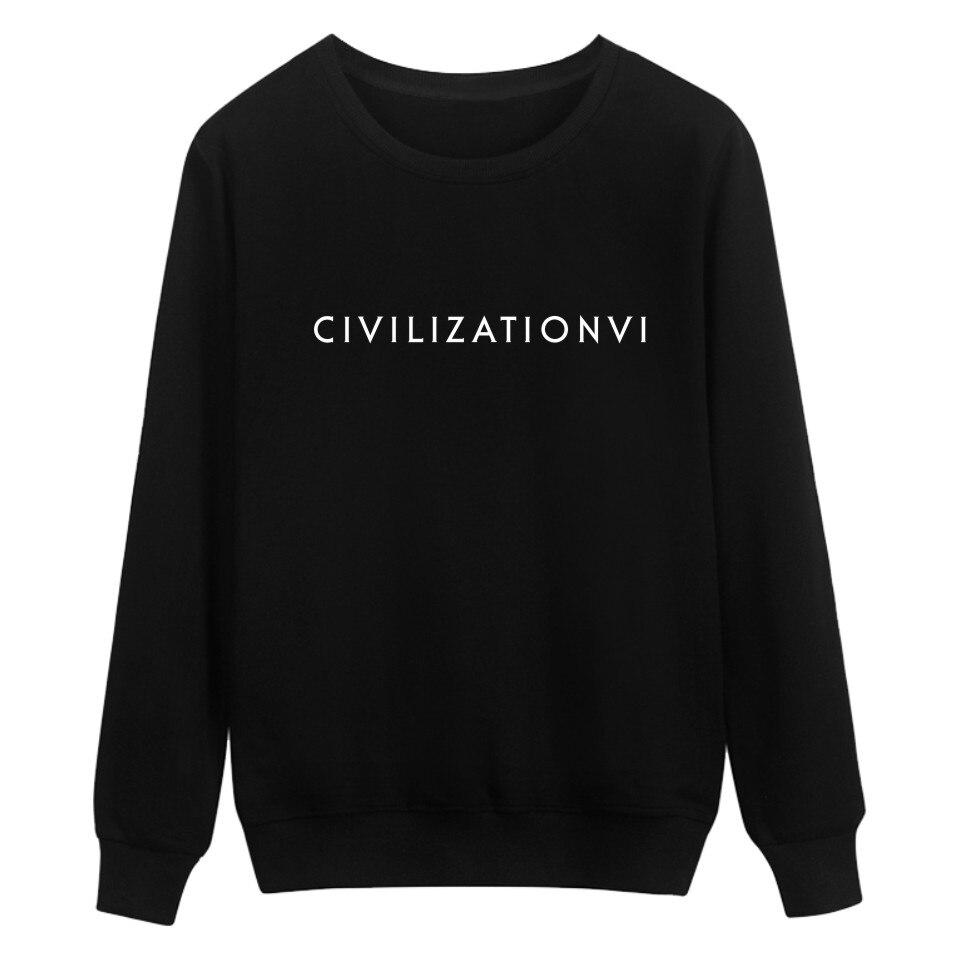 2018 Aikooki Zivilisation 6 Spiel Hoodies Männer/frauen Mode-druck Baumwolle Harajuku Sweatshirt Männer/frauen Herbst Warme Kleidung